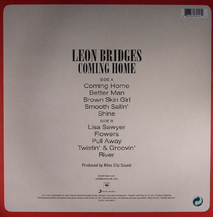 Coming Home Deluxe Leon Bridges: Leon BRIDGES Coming Home Vinyl At Juno Records