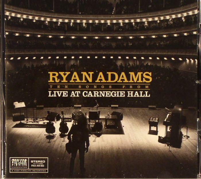 ryan adams ten songs from live at carnegie hall vinyl at juno records. Black Bedroom Furniture Sets. Home Design Ideas