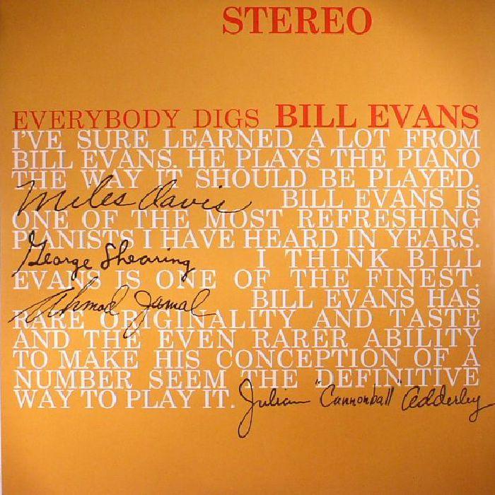 BILL EVANS TRIO - Everybody Digs Bill Evans (reissue)