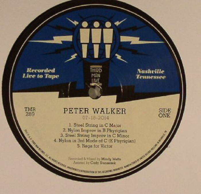 WALKER, Peter - Live At Third Man Records Nashville, TN