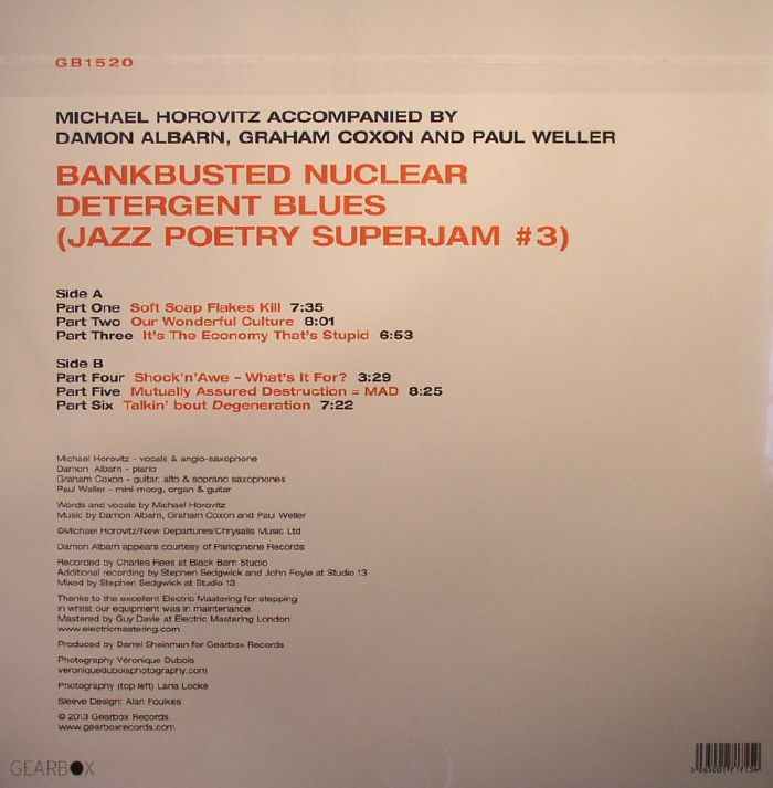 HOROVITZ, Michael/DAMON ALBARN/GRAHAM COXON/PAUL WELLER - Bankbusted Nuclear Detergent Blues (Jazz Poetry SuperJam #3)