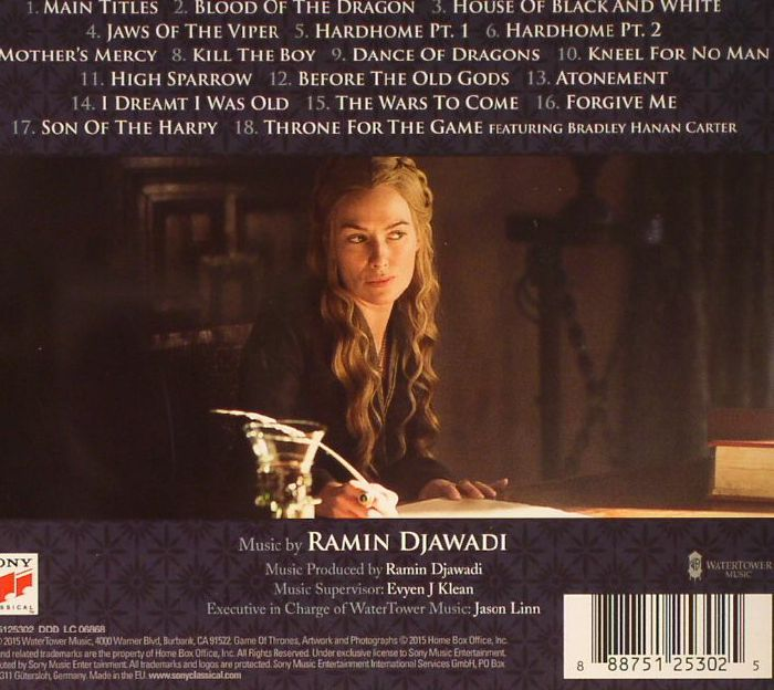 DJAWADI, Ramin - Game Of Thrones Season 5 (Soundtrack)