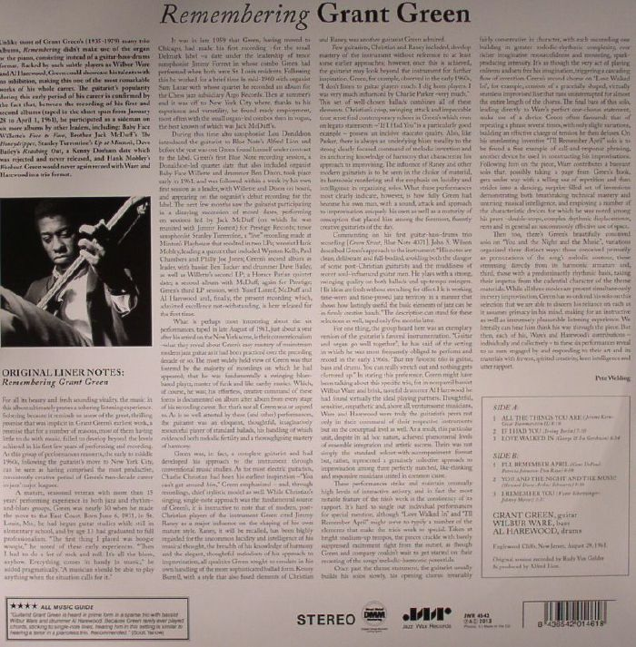 GREEN, Grant - Remembering (remastered)