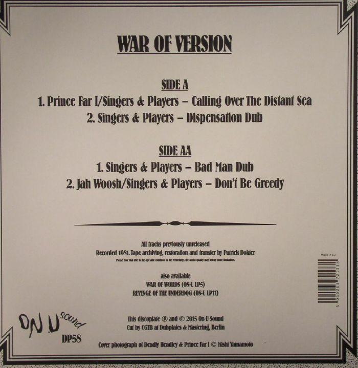 SINGERS & PLAYERS/PRINCE FAR I/JAH WOOSH - War Of Version