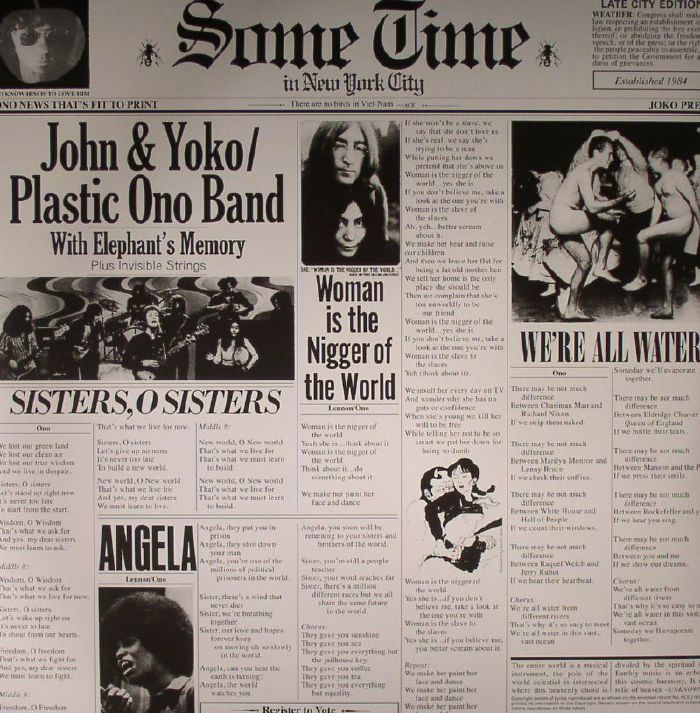 LENNON, John & YOKO ONO/PLASTIC ONO BAND/ELEPHANT's MEMORY - Some Time In New York City