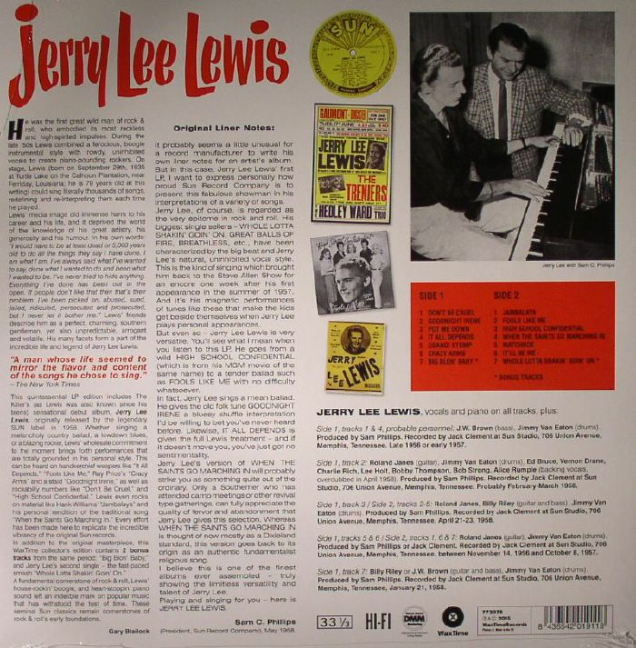 LEWIS, Jerry Lee - Jerry Lee Lewis