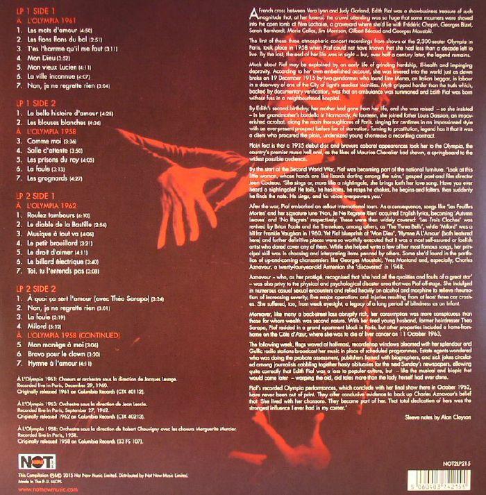 Edith Piaf At The Paris Olympia Vinyl At Juno Records