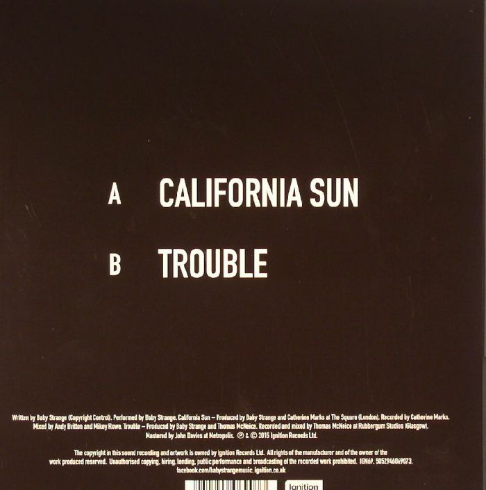 BABY STRANGE - California Sun