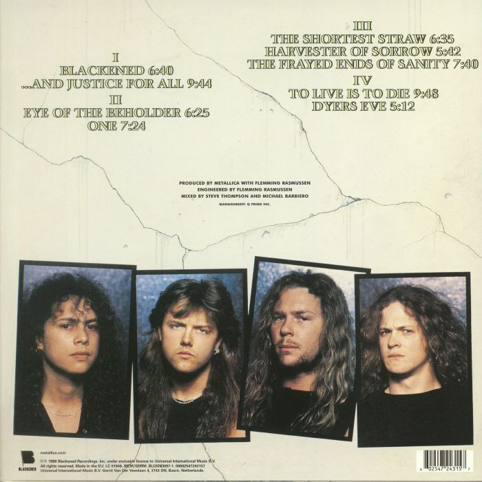 METALLICA And Justice For All Reissue Vinyl At Juno Records