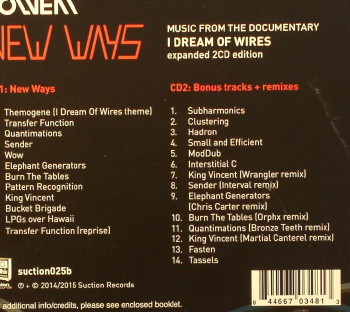 SOLVENT - New Ways: Music From The Documentary I Dream Of Wires