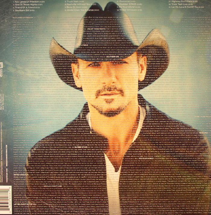 tim mcgraw two lanes of freedom accelerated deluxe vinyl