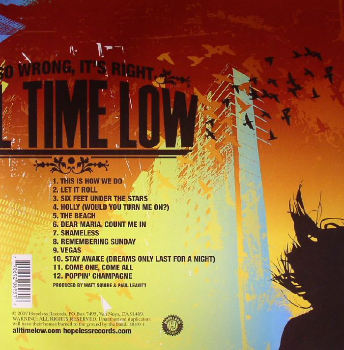 all time low so wrong it s right vinyl at juno records