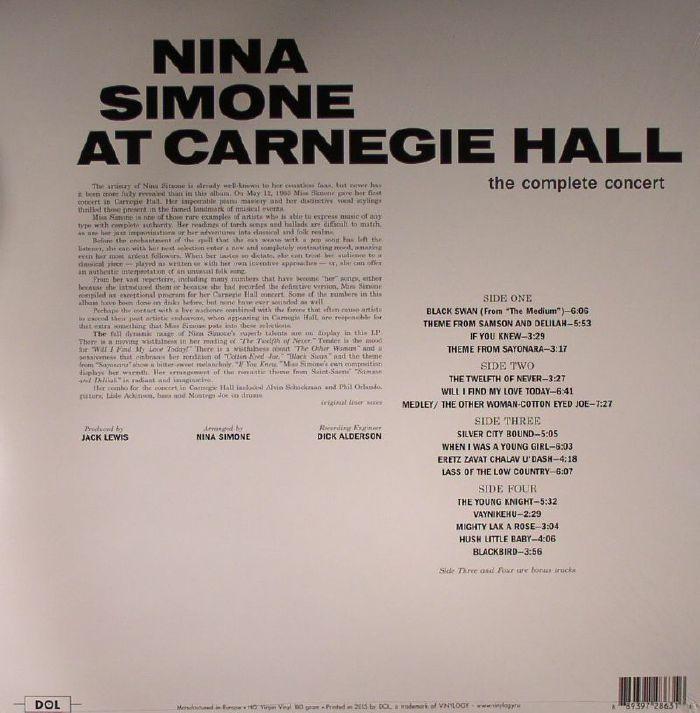 SIMONE, Nina - At Carnegie Hall
