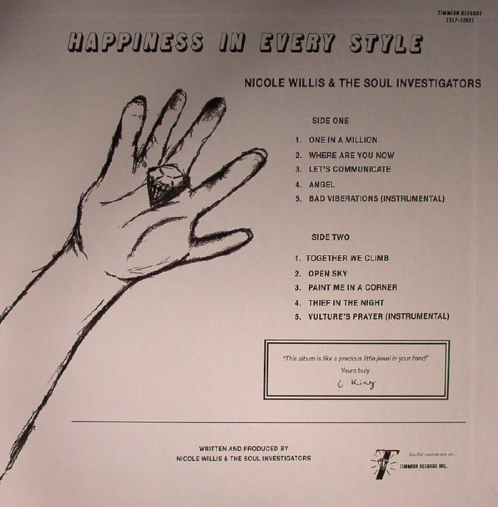 WILLIS, Nicole/THE SOUL INVESTIGATORS - Happiness In Every Style