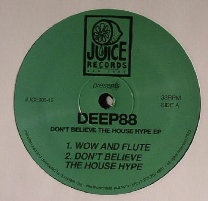 deep88 don t believe the house hype ep vinyl at juno records. Black Bedroom Furniture Sets. Home Design Ideas