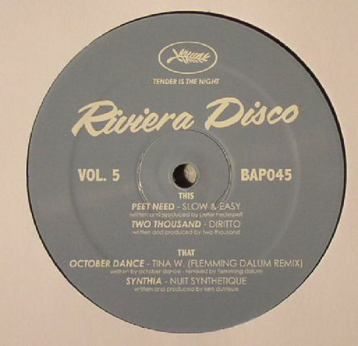 PEET NEED/TWO THOUSAND/OCTOBER DANCE/SYNTHIA - Riviera Disco Vol 5