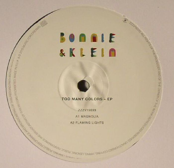 BONNIE & KLEIN - Too Many Colors EP