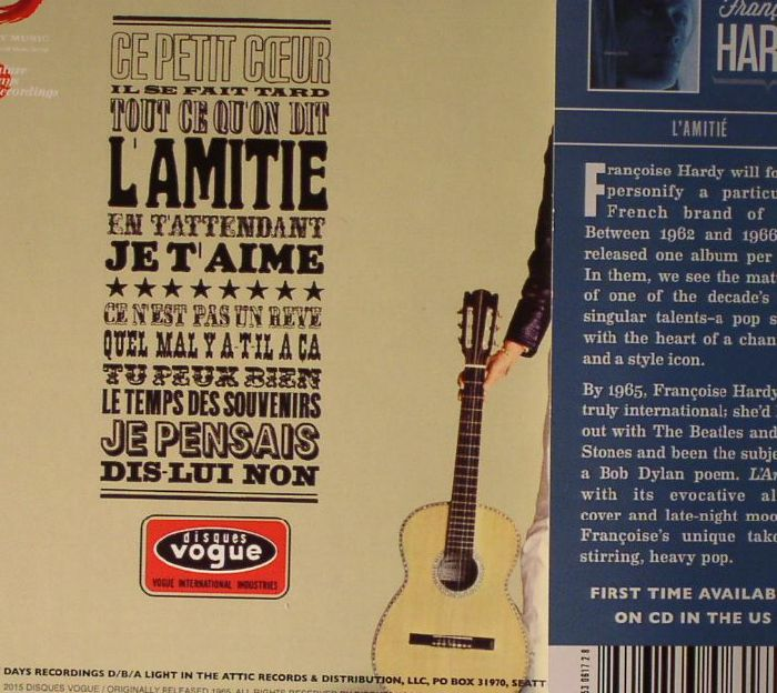 HARDY, Francoise - L'Amitie
