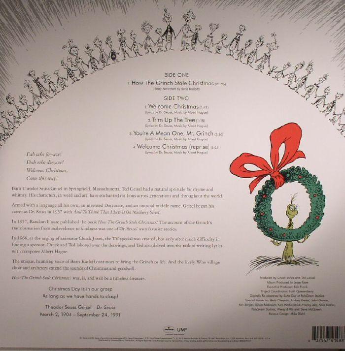 DR SEUSS/BORIS KARLOFF - How The Grinch Stole Christmas (Soundtrack) (remastered)