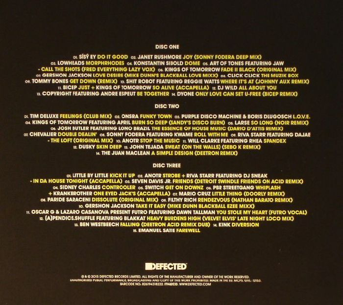 VARIOUS - Defected In The House Amsterdam 2015