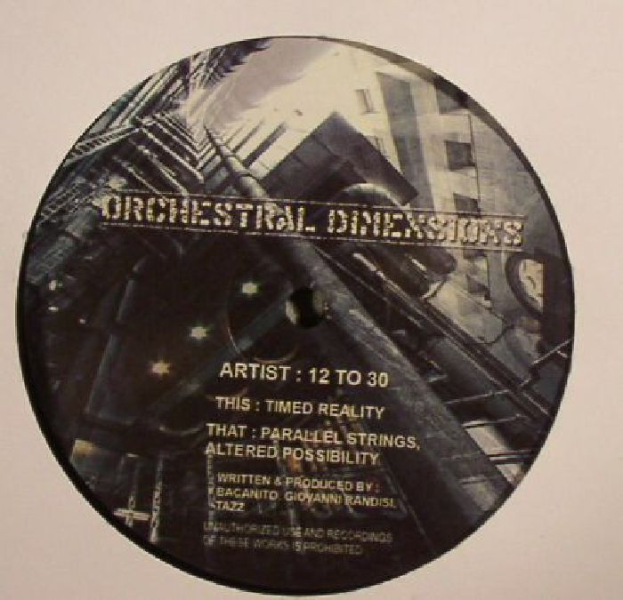 12 TO 30 - Orchestral Dimensions