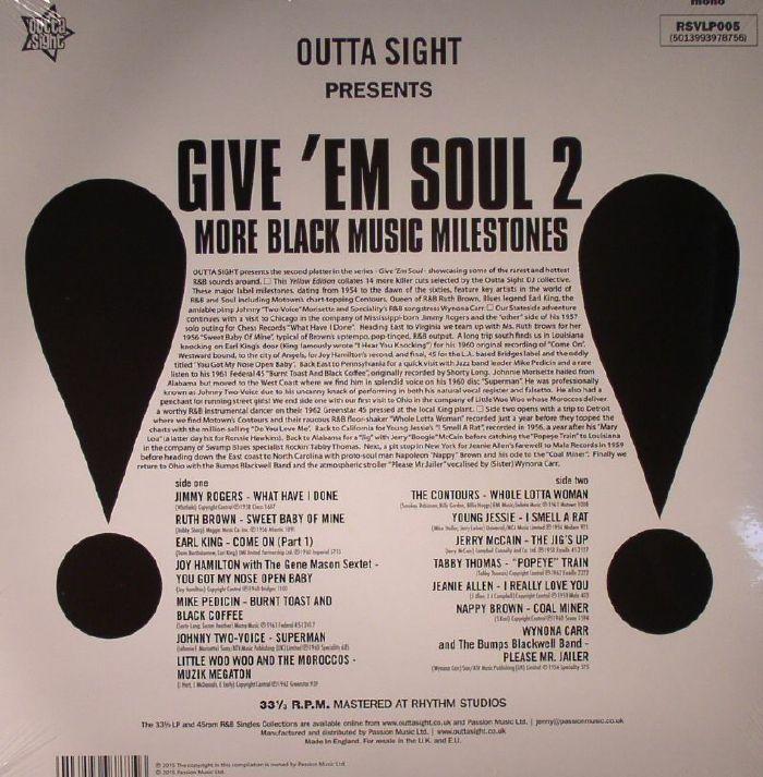 VARIOUS - Give Em Soul Vol 2: Black Music Milestones (mono)