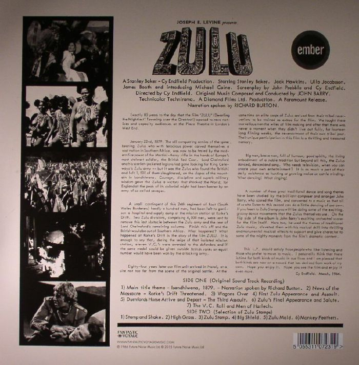 John Barry Zulu Soundtrack Remastered Vinyl At Juno
