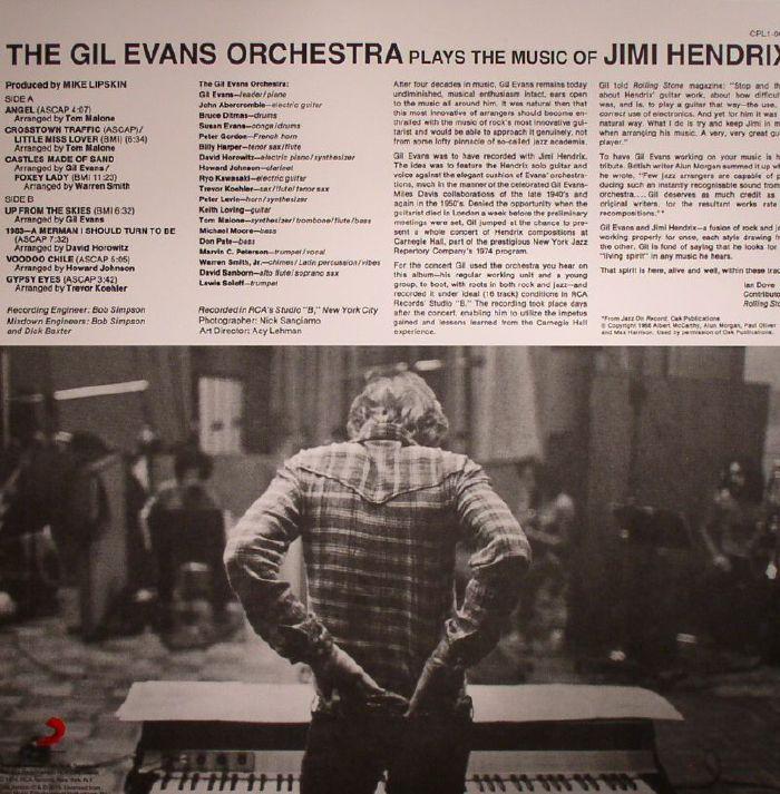 GIL EVANS ORCHESTRA, The - The Gil Evans Orchestra Plays The Music Of Jimi Hendrix
