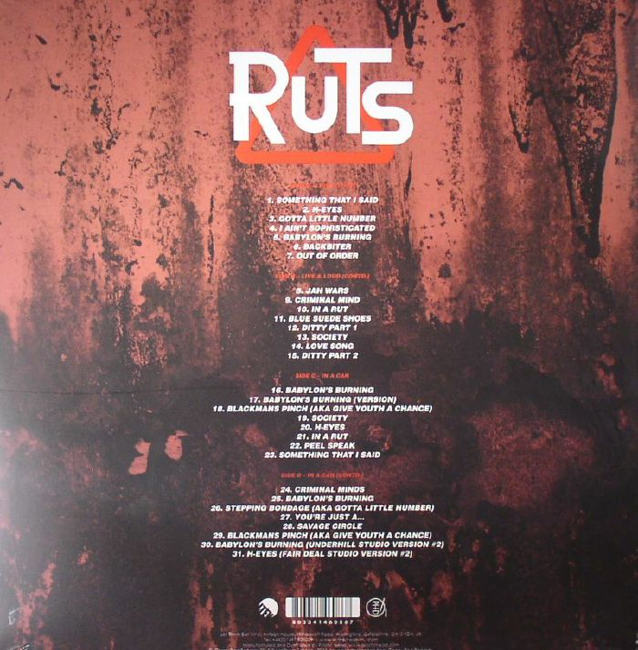 The Ruts Babylon S Burning Vinyl At Juno Records