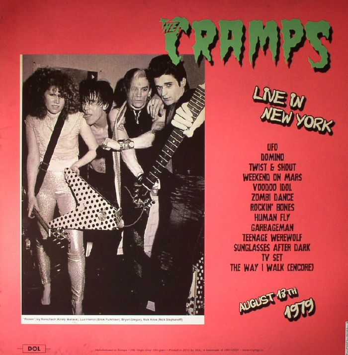 CRAMPS, The - Live In New York 1979