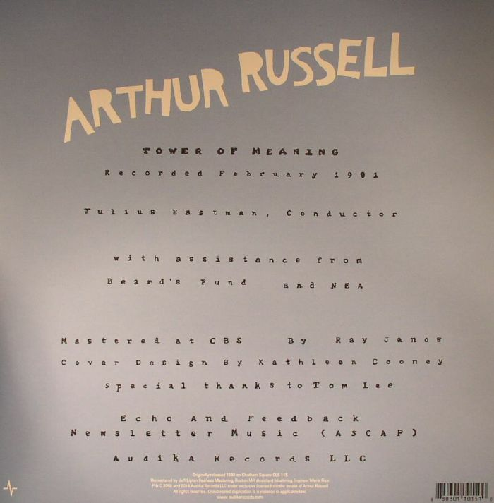 RUSSELL, Arthur - Tower Of Meaning