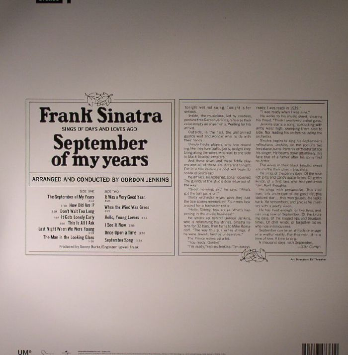 SINATRA, Frank - September Of My Years
