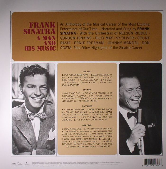 SINATRA, Frank - A Man & His Music: An Anthology Of The Musical Career Of The Most Exciting Entertainer Of Our Time (remastered)