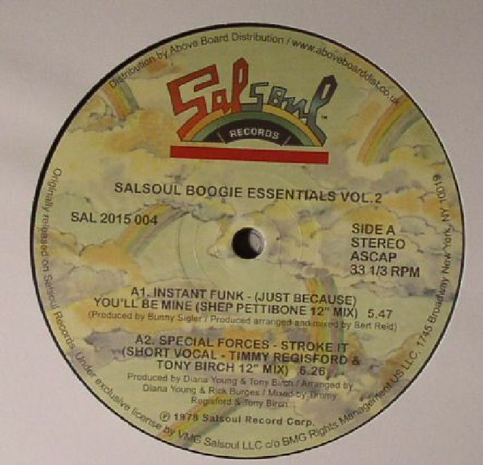 INSTANT FUNK/SPECIAL FORCES/VAUGHAN MASON/BUTCH DAYO/THE JAMMERS/THE SALSOUL ORCHESTRA - Salsoul Boogie Essentials Vol 2