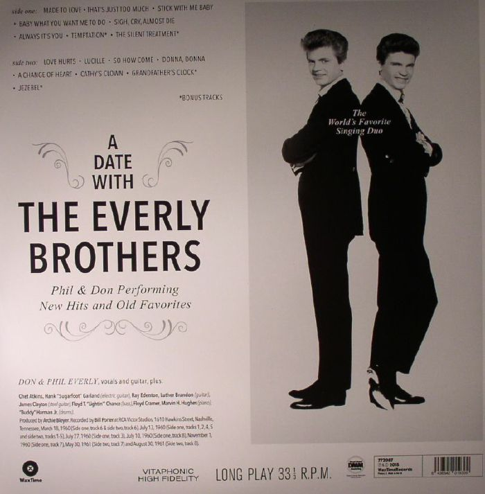 everly dating The everly brothers had 35 billboard top-100 singles, 26 in the top 40 they hold the record for the most top-100 singles by any duo and trail hall & oates for the most top 40 singles by a duo [citation needed] in the uk, they had 30 chart singles, 29 in the top 40, 13 top 10, and 4 at no 1 between 1957 and 1984.