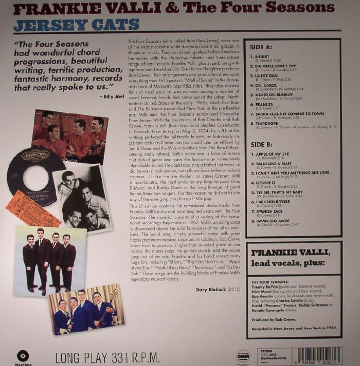 VALLI, Frankie & THE FOUR SEASONS - Jersey Cats