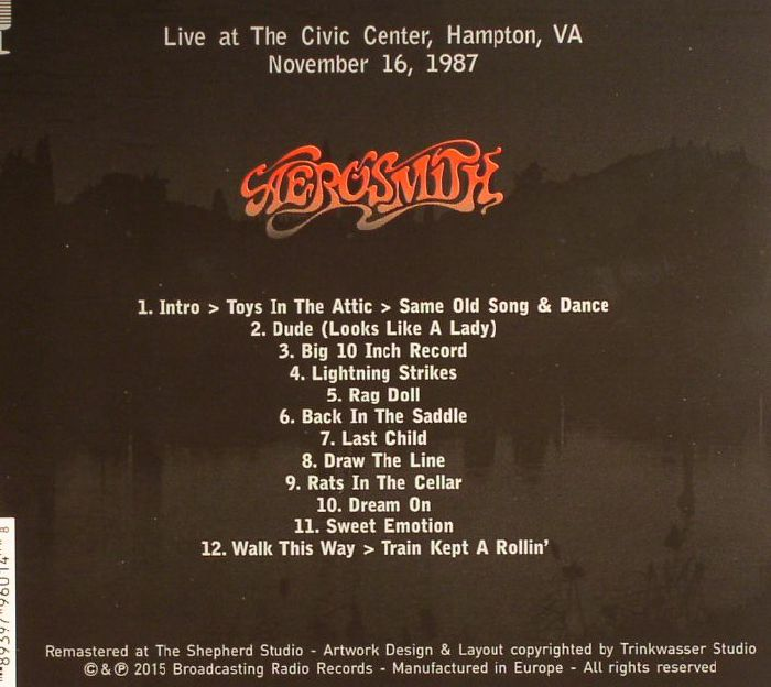 Aerosmith Live 1987 Remastered Vinyl At Juno Records