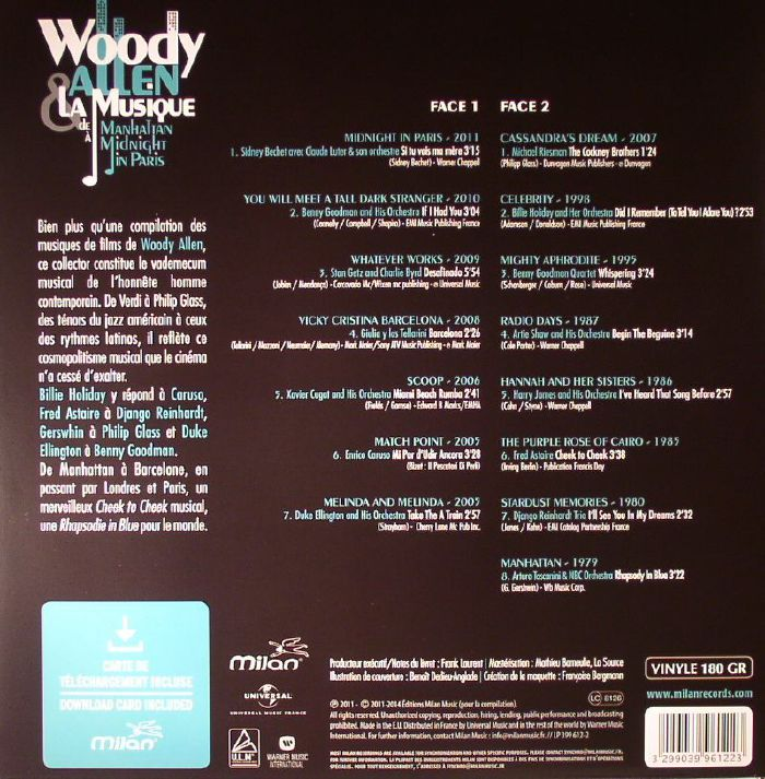 VARIOUS - Woody Allen & La Musique: De Manhattan A Midnight In Paris