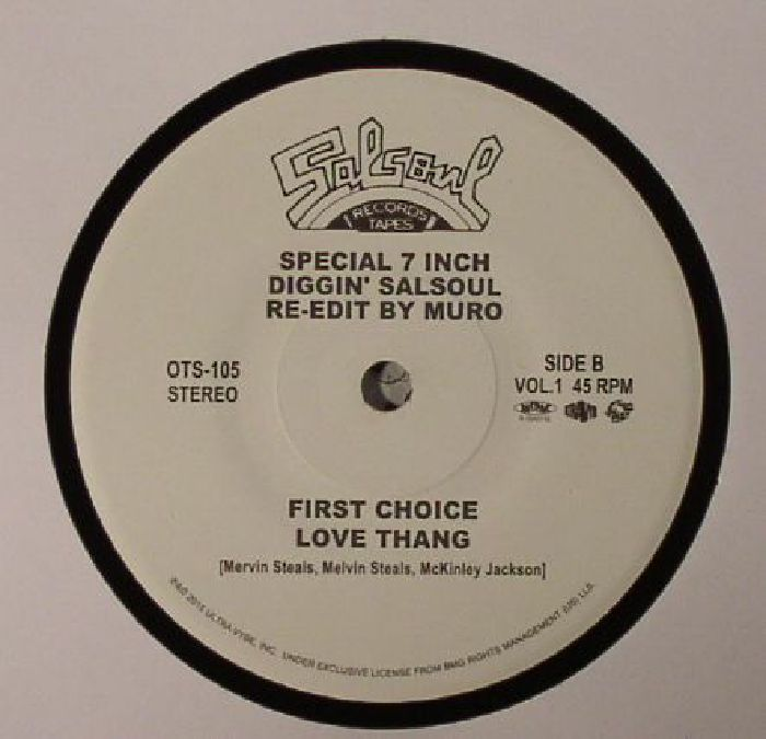 SALSOUL ORCHESTRA, The/FIRST CHOICE - Diggin' Salsoul: Re Edit By Muro Vol 1