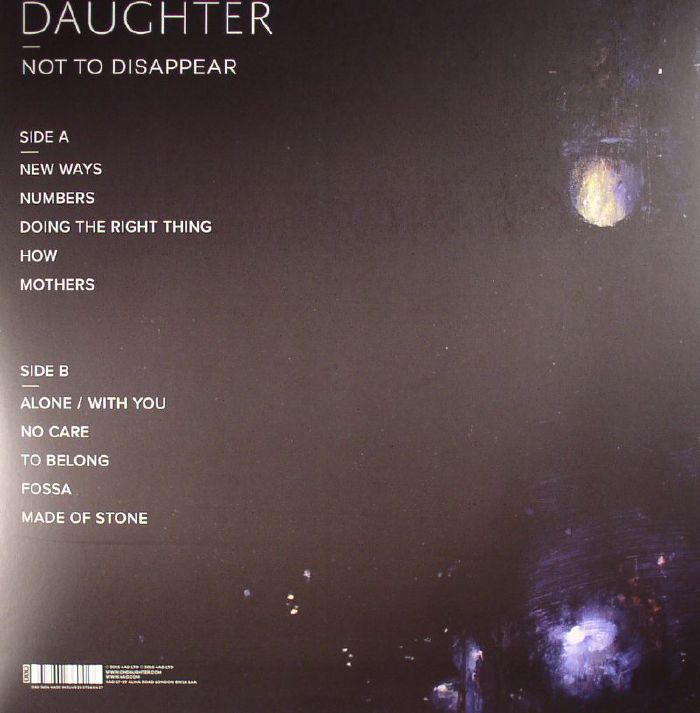 DAUGHTER Not To Disappear vinyl at Juno Records
