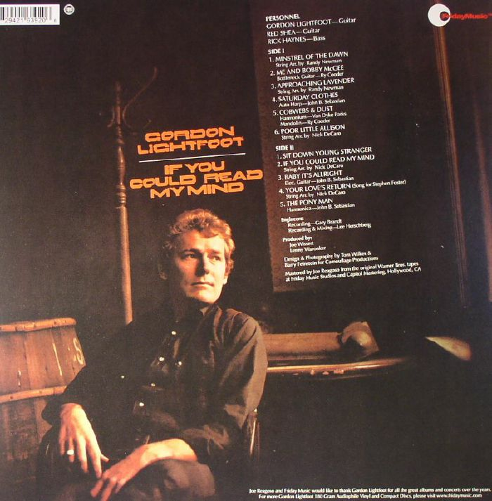 Gordon Lightfoot If You Could Read My Mind Vinyl At Juno