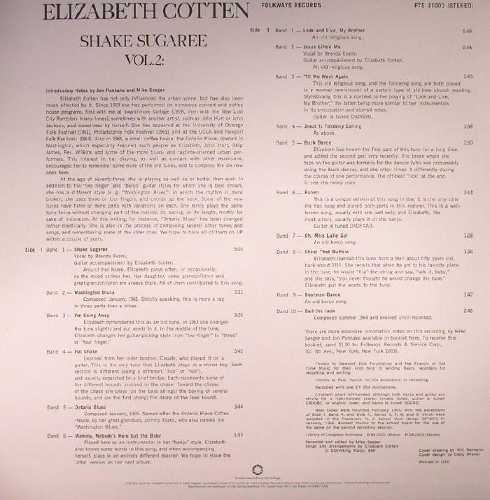 Elizabeth Cotten Vol 2 Shake Sugaree Vinyl At Juno Records
