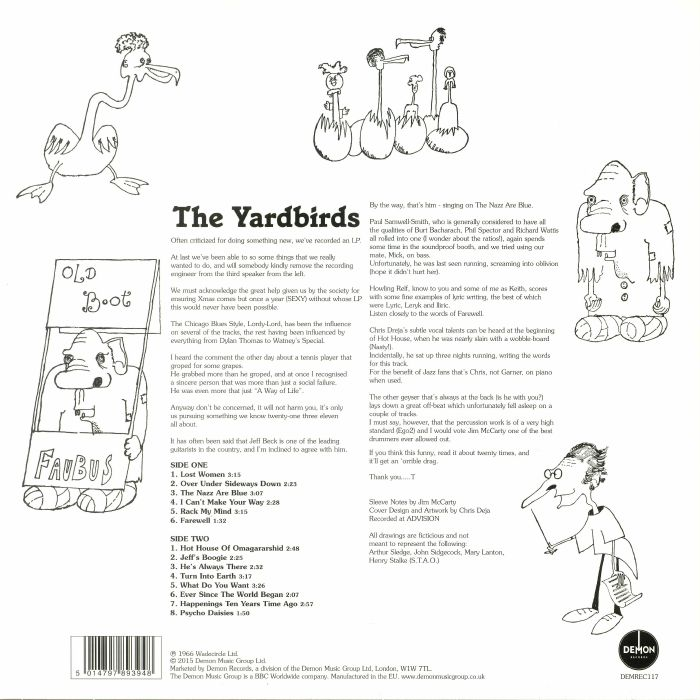 YARDBIRDS, The - Roger The Engineer (mono)