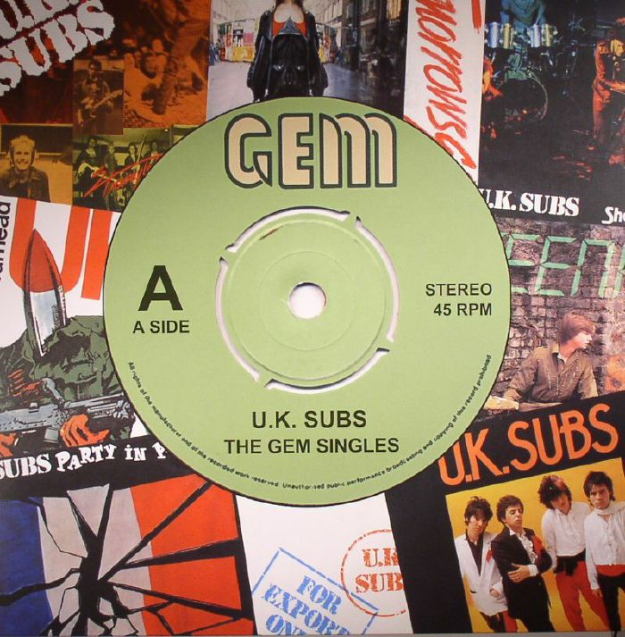 Uk Subs The Gem Singles Vinyl At Juno Records