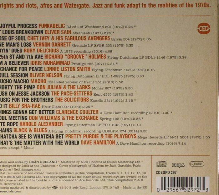 VARIOUS - Things Gonna Get Better: Street Funk & Jazz Grooves 1970-1977