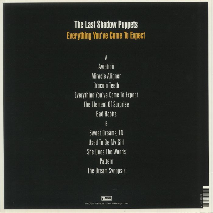 LAST SHADOW PUPPETS, The - Everything You've Come To Expect