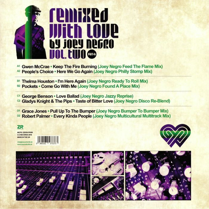 NEGRO, Joey/VARIOUS - Remixed With Love By Joey Negro Vol 2 Part B