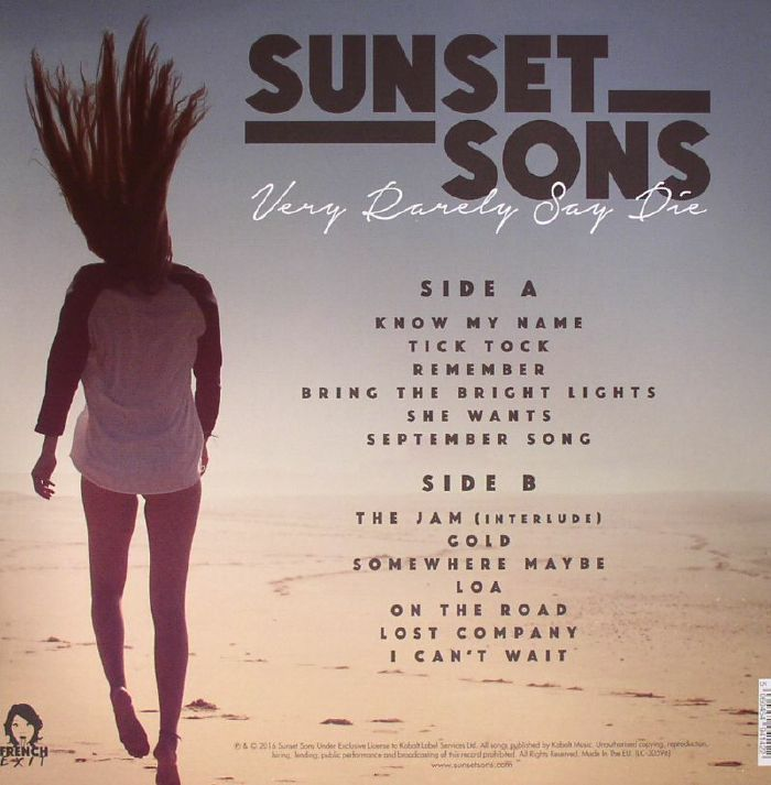 SUNSET SONS - Very Rarely Say Die