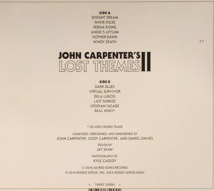 CARPENTER, John - Lost Themes II