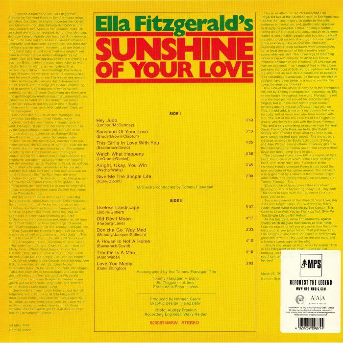 FITZGERALD, Ella - Sunshine Of Your Life